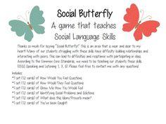 Social Butterfly -A Game that Teaches Social Language Pragmatic Skills ($3.50)
