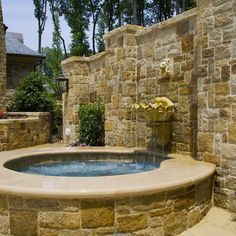 Put the equipment behind the wall!!!  Outdoor Spa Design Ideas, Pictures, Remodel, and Decor - page 25