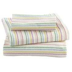 Sheet Sets: Princess and Pea Stripe Toddler Sheet Set (includes 1 fitted sheet, 1 flat sheet and 1 case) by Land of Nod, http://www.amazon.com/dp/B008K5W910/ref=cm_sw_r_pi_dp_cEvjsb0AYENPE