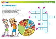 Palavras cruzadas - alimentação saudável | Rik&Rok