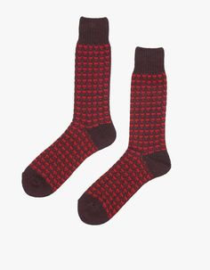 Anonymous Ism Broken Stripe Crew #mens #striped #socks #love #red/brown #wantering