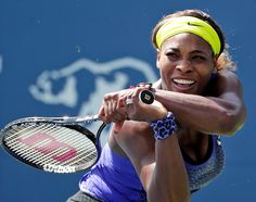 Serena Williams through the years...Classic win     Serena Williams returns to Angelique Kerber, of Germany, during the championship match of the Bank of the West Classic tennis tournament on Sunday, Aug. 3, 2014, in Stanford, Calif. BING: HOW MANY BANK