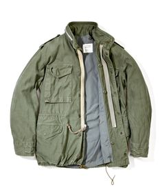 The Real McCoys Field Jacket - Superdenim Military Men, Military Jacket, Military Clothing, Urban Outfits, Cool Outfits, M65 Jacket, Fashion Wear, Mens Fashion, Levis Jean Jacket