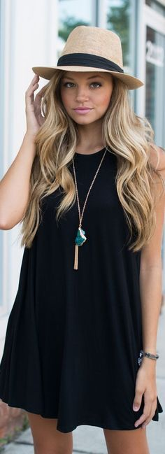 Black t shirt dress