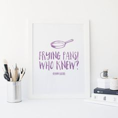 Frying Pans  Who knew  Kitchen print  Tangled  by SnowAndCompany