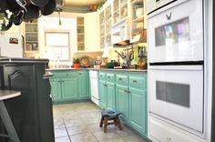 Our future kitchen cabinet colors. With a warm beige backsplash.