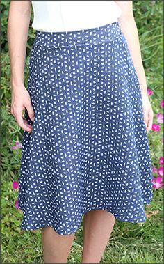 Denim Print Skirt [BSF1495] - $44.99 : Mikarose Fashion, Reinventing Modest Fashion