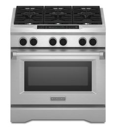 KitchenAid® 36-Inch 6-Burner Dual Fuel Freestanding Range, Commercial-Style