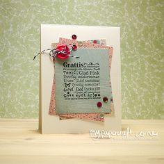 My Papercraft Corner - Card #406 I Card, Card Making, About Me Blog, Corner, Stamp, Stamps, Cardmaking, Letter Crafts