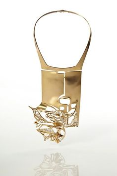"""Orphee"" gold necklace by Onelio Vignando, 1973 #lovegold #brilliantgold"