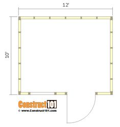 lean to shed plans - floor view. Diy Storage Shed Plans, Building A Storage Shed, Shed Building Plans, 10x12 Shed Plans, Lean To Shed Plans, Wood Shed Plans, Shed Blueprints, Shed Construction, Casas Containers
