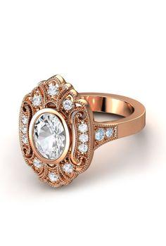 Vintage inspired diamond ring