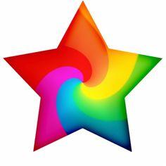 Shop Swirly Rainbow Stars Photo Sculpture Decoration created by rainbowthree. Rainbow Star, Love Rainbow, Taste The Rainbow, Rainbow Brite, Over The Rainbow, Rainbow Colors, Vibrant Colors, Colours, Colorful