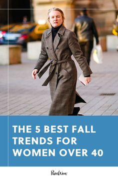 Whip out your leather jacket and dust off your plaid, fall's almost here and you'll want your wardrobe to be prepared. This year, try these five trends, ideal for women over 40. #best #fall #trends Mitchell Rock, Dust Off, Checked Trousers, Over 40, Rosetta Getty, Plaid Blazer, Flowy Tops, Fashion Tips For Women, Fall Trends