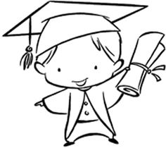 Rubber stamp mounted on a wooden block. Graduation Images, Graduation Cards, Colouring Pages, Coloring Books, Digi Stamps, Chalk Art, Copics, Art Pages, Cute Illustration