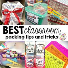Classroom Cleaning and Packing Made Easy (even though it's NEVER really easy! ) - good ideas here!