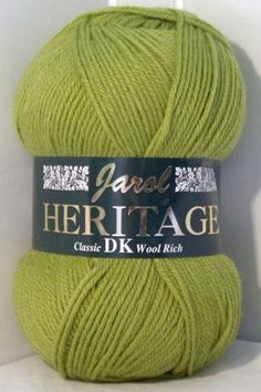 Heritage DK wool is our best value double knitting wool with its blend of 55% wool.  A hard wearing yarn, with warm colours for all occasions and now with an incredible 34 shades to choose from.  Heritage DK will knit up to any standard double knitting pattern.   Discounted 1000g Packs available (10 x 100g balls per pack) £31.00 a saving of £4.90 (Pack prices are available in the options box on this page - scroll down past the individual ball prices)