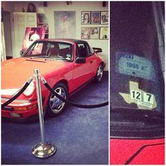 Selena's car. A red porsche