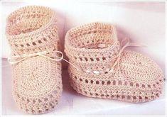 Crochet moldes patrones zapatos bebé - Imagui