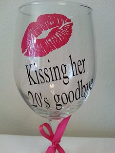 Birthday gift idea personalized wine glass with lipskissing her 20 39 s goodbyemonogram choose your vinyl colors Birthday gift idea personalized wine … – Best Friends Forever 21st Birthday Quotes, Birthday Gifts, Wine Birthday, Birthday Ideas, Birthday Month, 30th Birthday, Wine Glass Sayings, Wine Craft, Personalized Wine