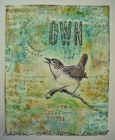 PAPER - STAMPS - COLOR: The Original Documented Life Project - week 13