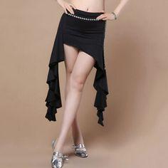 Belly Dance Costume Tribal Irregular hip scarf wrap belt Skirt Waist Band Big Hem