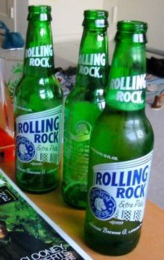 Vintage Rolling Rock Beer Bucket Of Rocks Galvanized Ice