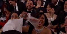 Taraji P. Henson was very happy about her Twizzlers. | The 22 Best Moments From The 2017 Oscar Awards