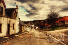 A Cotswold Village by Lianne Schneider - digital painting of one of the quaint UK villages in the UK.  At Fine Art America http://fineartamerica.com/featured/a-cotswold-village-lianne-schneider.html