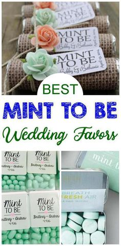 Mint To Be Wedding Favors Wedding Favors! Mint to be wedding favors that every bride and groom will love to give their guests as a take home gift. BEST wedding favors - DIY wedding favors, cheap wedding favor, homemade wedding favors & more. Homemade Wedding Favors, Inexpensive Wedding Favors, Diy Wedding Gifts, Cheap Favors, Rustic Wedding Favors, Unique Wedding Favors, Wedding Party Favors, Diy Gifts, Trendy Wedding
