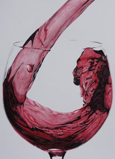 Red Wine part 2 - Bic pens by 6re9.deviantart.com on @deviantART