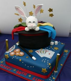 Fantastic 13 Best Party And Cake Ideas Images Cake Magician Cake Themed Funny Birthday Cards Online Elaedamsfinfo