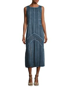Cheap dress plus size xcvi – Woman best dresses Cheap Dresses, Blue Dresses, Dresses For Work, Long Denim Dress, Summer Denim, Romantic Outfit, Comfortable Outfits, Tank Dress, Amazing Women
