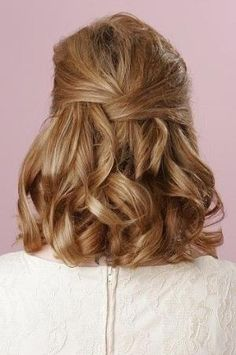 Prom Hairstyle for Short Hair | Curls for Prom | Half-up Half-down Hairstyle: by kelli
