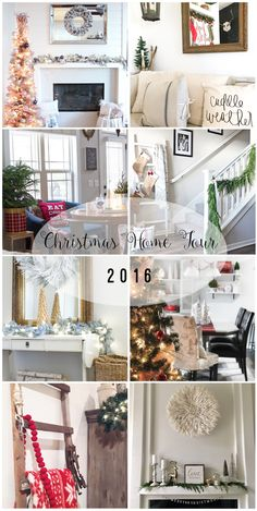 Holiday Home Tour: 7 bloggers share their homes decorated for the holidays. ahousewithbooks.com