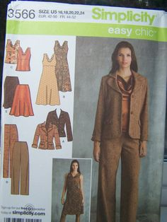 Simplicity 3566 Women's Sewing Pattern Career by WitsEndDesign