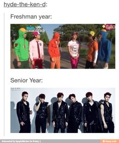 VIXX going from kindergarden to seniors in high school