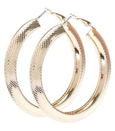 From hoops to studs, add the finishing touch to your look with New Look's earrings. With free delivery options available, discover your perfect pair today. Gold Hoop Earrings, Gold Hoops, Bangles, Bracelets, Gold Jewelry, Jewellery, Teen Fashion, New Look, Studs