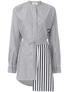 Ports 1961 White & Grey Striped Shirt In Black Fashion Sewing, Black Cotton, Blouse Designs, Women Wear, Shirt Dress, Fashion Outfits, Clothes, Stripe Shirts, Tunic