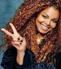 Jackson, flipping the peace sign Jo Jackson, Jackson Family, Michael Jackson, Paris Jackson, Janet Jackson Velvet Rope, Janet Jackson Unbreakable, Billy Preston, Curly Hair Styles, Natural Hair Styles