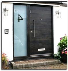 Solid mahogany French door with black stain. | mid century modern ...