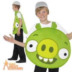 Child #angry birds green pig boys girls #licensed book week fancy dress #costume,  View more on the LINK: 	http://www.zeppy.io/product/gb/2/151770502806/