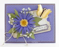 Memory Box - Lovely Aster by - Cards and Paper Crafts at Splitcoaststampers Butterfly Cards, Flower Cards, Card Tags, I Card, Memory Box Cards, Mothers Day Cards, Greeting Cards Handmade, Scrapbook Cards, Homemade Cards
