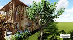 Kleingartenwohnhaus Umbra 50 Holzriegelkonstruktion 50th, Pergola, Outdoor Structures, Cabin, House Styles, Home Decor, Roof Styles, Homes, Ideas