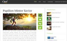 Tempelete Blogger Keren - Opal Full Responsive Blogger Template ~ SENJATA WEB
