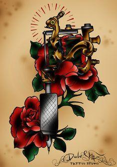 Old school tattoo machine by Dude-Skinz-Tattooing.deviantart.com on @deviantART
