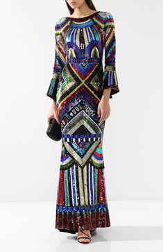 9ce03429d81 Женское разноцветное платье с пайетками ALICE + OLIVIA — купить за 157500  руб. в интернет