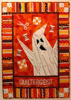 Quiltergeist by Riel Nason 2014. Part of the Exhibit A 1/4 Inch Scream on until October 31 at...