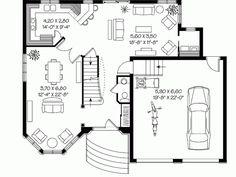 Second Empire Home Plan   residing   Pinterest   House plans    Second Empire Home Plan