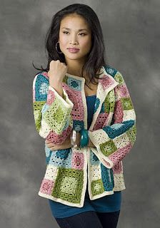 Crochet Granny Square Ideas Ravelry: Tulsa Jacket pattern by Diane Moyer / LOVE the colors. Crochet Bolero, Crochet Jacket Pattern, Crochet Coat, Crochet Cardigan, Love Crochet, Crochet Clothes, Crochet Patterns, Crochet Sweaters, Sewing Patterns